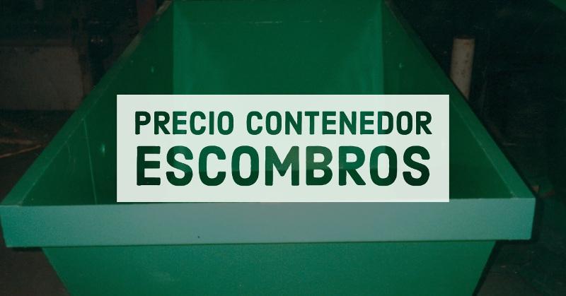 precio contenedor escombros sv contenedores